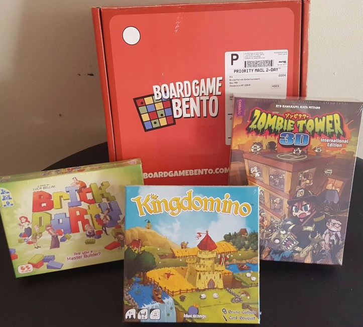 Board Game Bento August 2017
